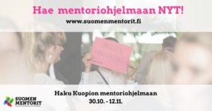 , Haku Suomen Mentorit mentori-ohjelmaan Kuopiossa, UEF Kamu