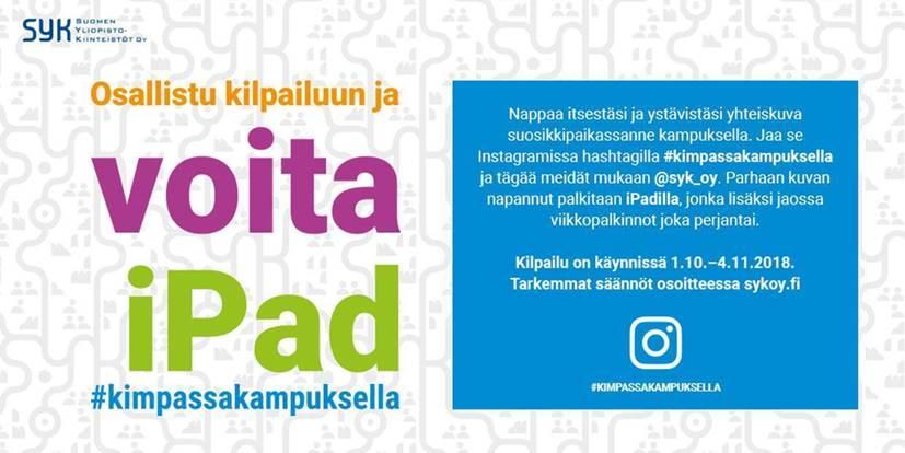 , Suomen Yliopistokiinteistöt Oy järjestää Instagram-kuvakilpailun, UEF Kamu
