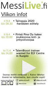 , Pohjois-Savon TE-toimiston MessiLive.fi -rekrylähetykset jatkuvat, UEF Kamu