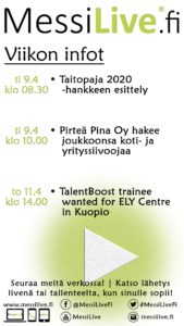 , Pohjois-Savon TE-toimiston MessiLive.fi -rekrylähetykset jatkuvat, UEF Kamu, UEF Kamu